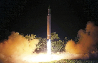 Launch of the Hwasong-14 missile