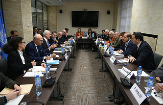 Syrian peace talks at the United Nations Office in Geneva, 2016