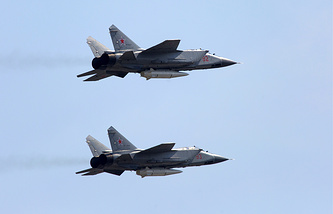 MiG-31K fighter jets with Kinzhal hypersonic missiles