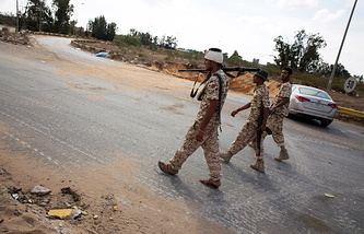Libyan forces loyal to the Government of National Accord