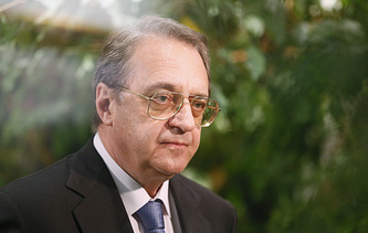 Russian Deputy Foreign Minister and Special Presidential Envoy for the Middle East and Africa Mikhail Bogdanov