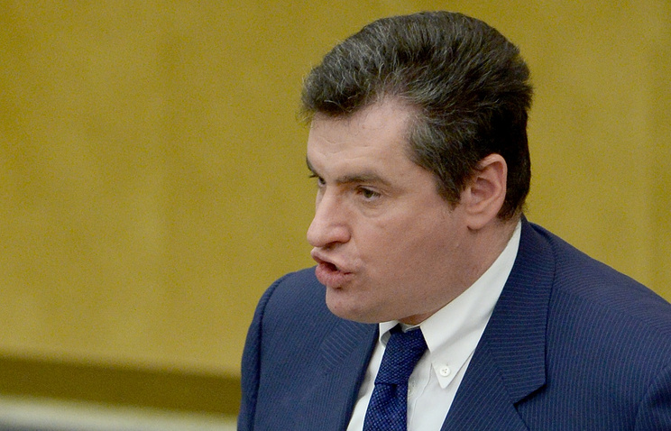 Leonid Slutsky, chairman of the State Duma committee on CIS, Eurasian integartion and relations with compatriots