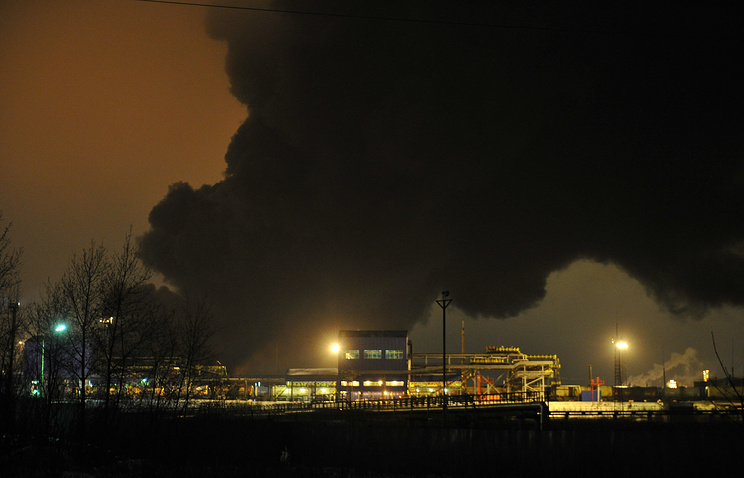 Smoke seen over the refinery