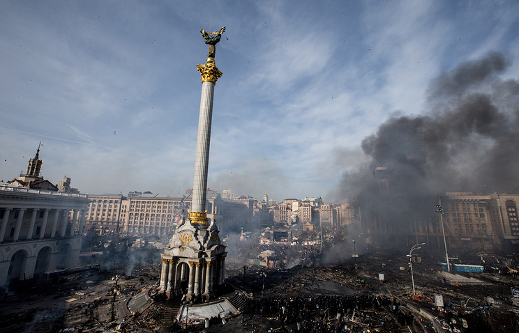 Disturbances in central Kiev