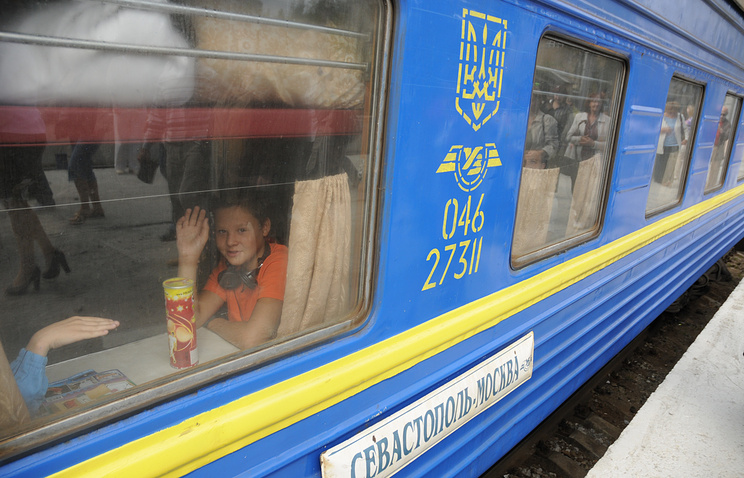 Sevastopol transport police have been patrolling trains which arrive in Sevastopol