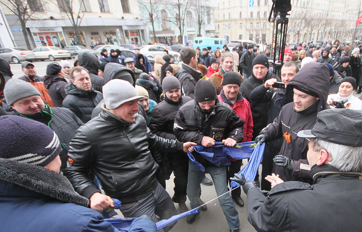 Protests agains change of power in Kharkiv