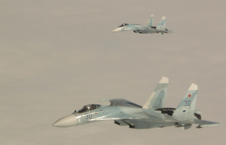 Russian SU-27 fighter jets (archive)