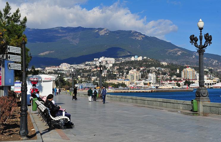 Crimean city of Yalta in March 2014