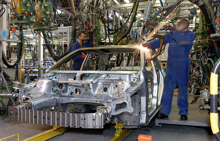 Ford producrion facility in Russia's Leningrad Region