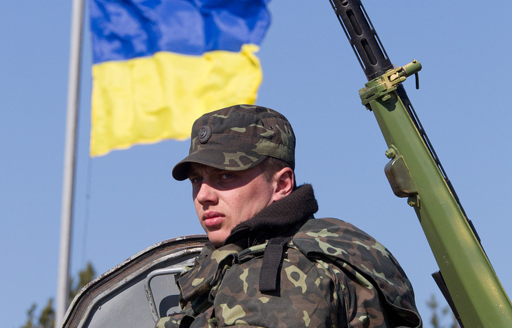 Ukrainian soldier in Chernihiv Region