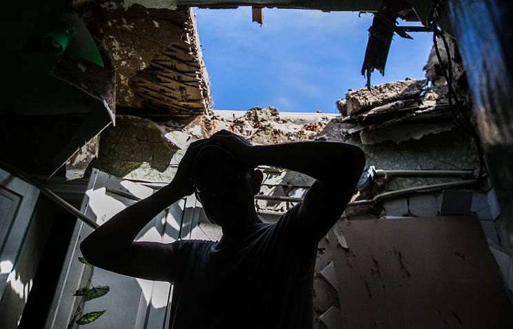 A house destroyed by shelling in Sloviansk (archive)