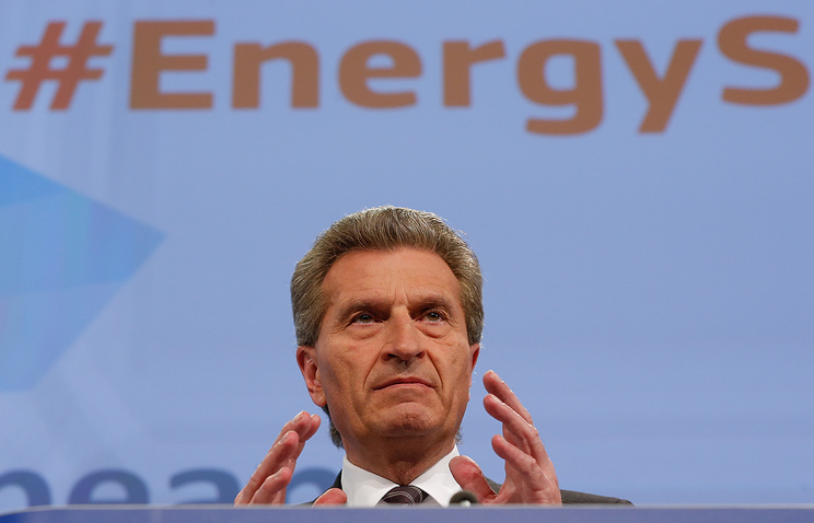 European Energy Commissioner Gunther Oettinger