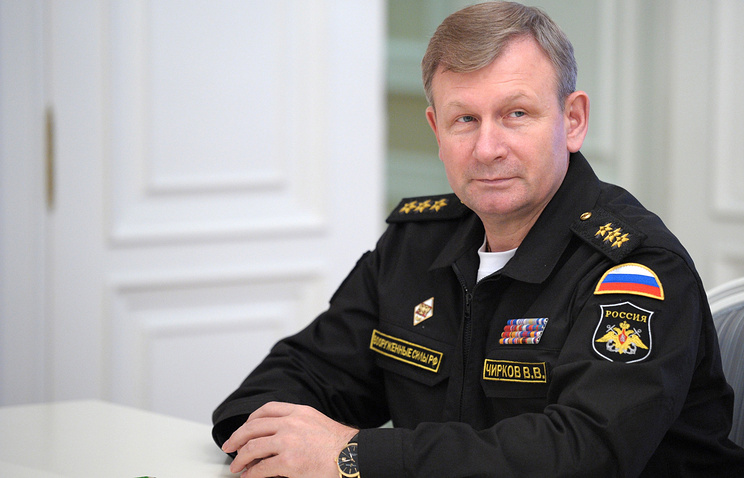 Russia's Navy commander-in-chief Viktor Chirkov