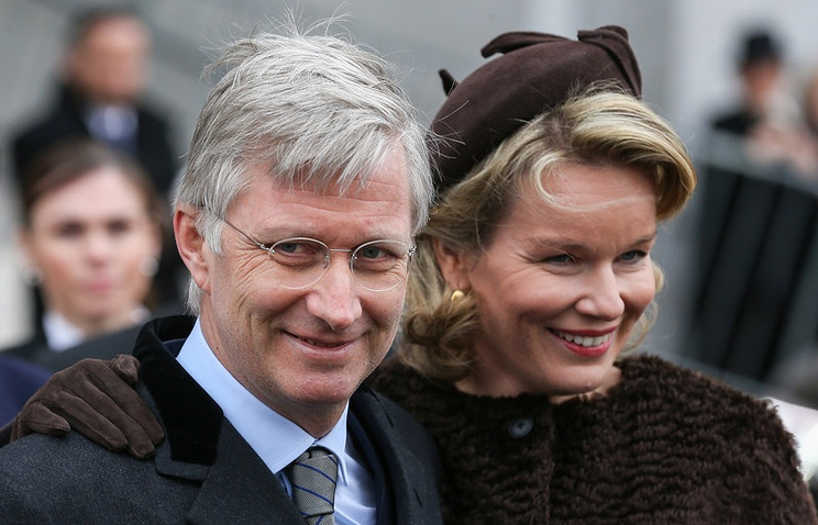 Belgian Queen Mathilde and King Philippe