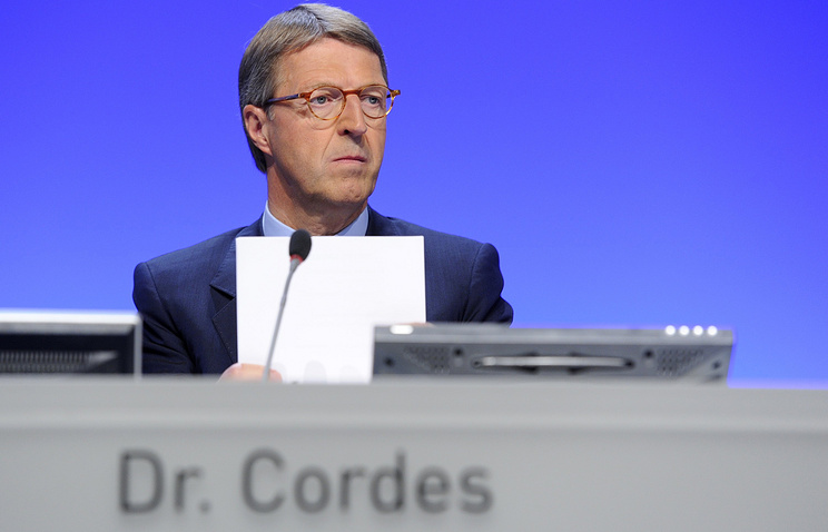 Chairman of the Committee on Eastern European Economic Relations Eckhard Cordes