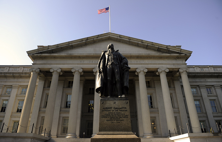 US Treasury building in Washington, DC