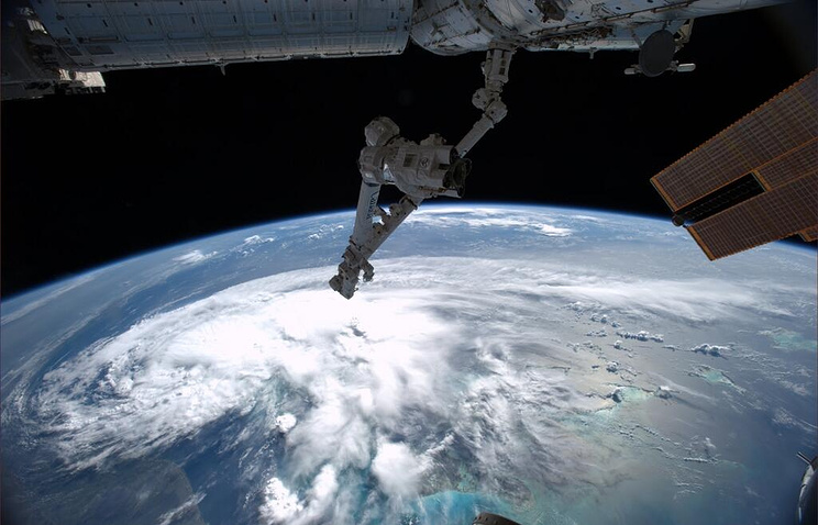 A view from the International Space Station (ISS)