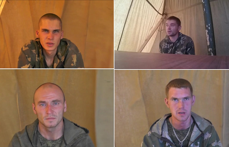 Image reportedly showing Russian soldiers detained  in Ukraine