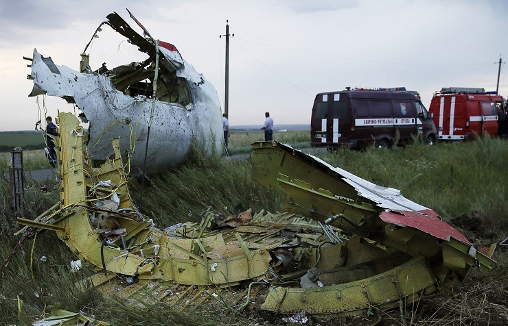 At the crash site of MH17