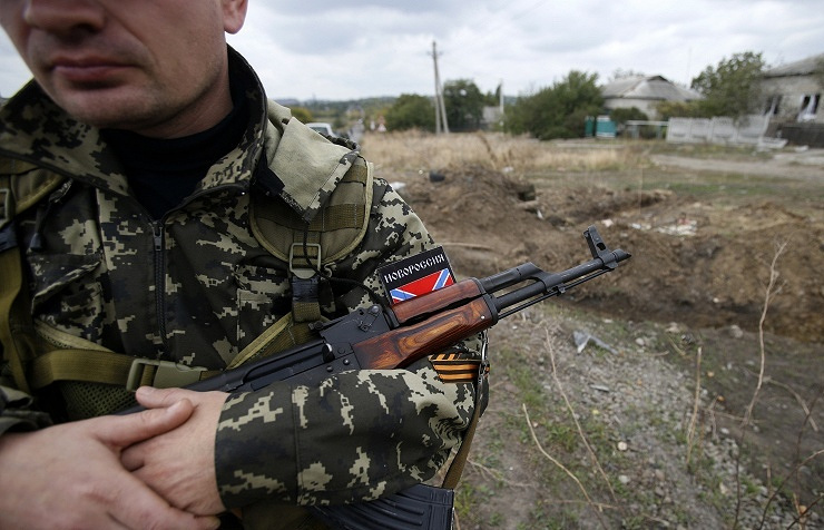 A militia fighter seen at the site