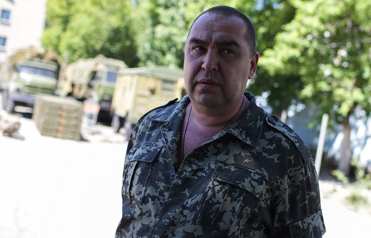 Leader of the self-procalimed Luhansk People's Republic Igor Plotnitsky
