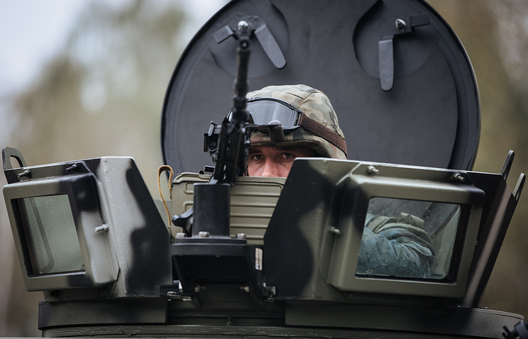 A soldier of the Ukraine's National Guard