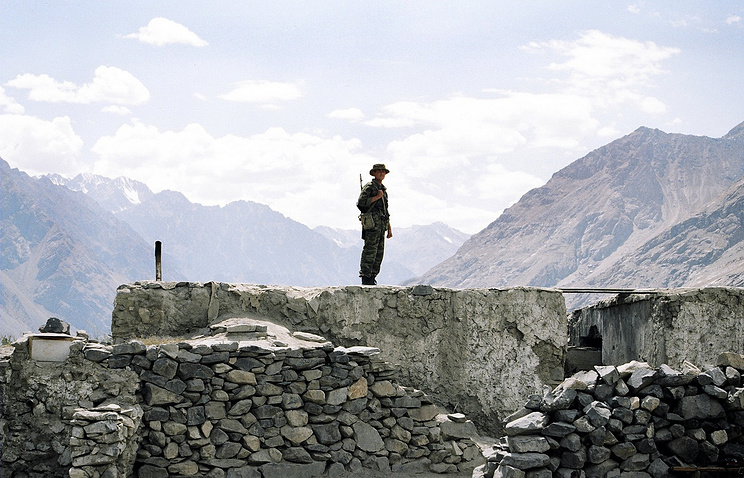 A border guard in Tajikistan