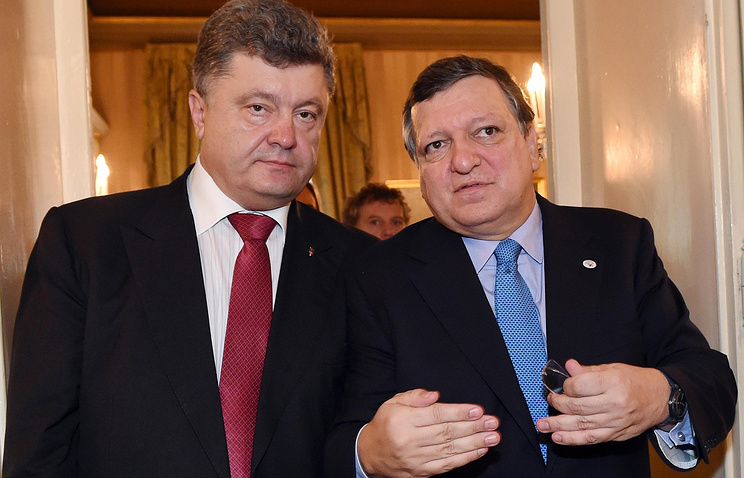 Petro Poroshenko and Jose Manuel Barroso