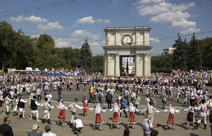 Independence Day in Chisinau, Moldova