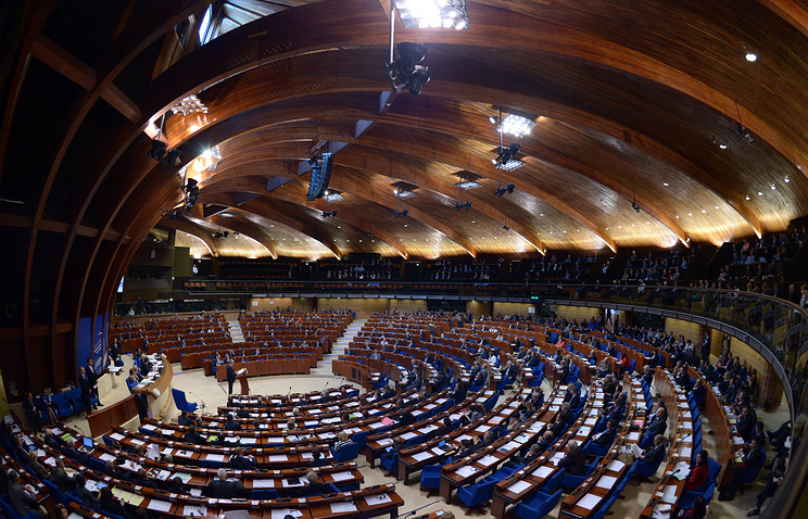 The Parliamentary Assembly of the Council of Europe (PACE) in session