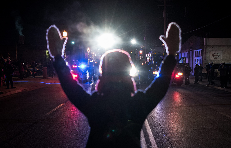 Protester in Ferguson, Missouri