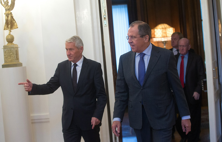 Thorbjorn Jagland and Sergey Lavrov