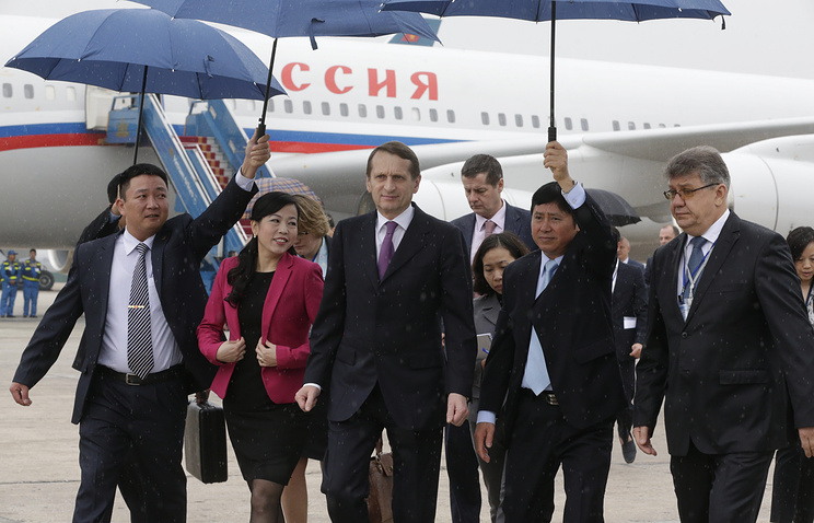 Parliamentary lower house Speaker Sergey Naryshkin on a visit to Hanoi, Vietnam