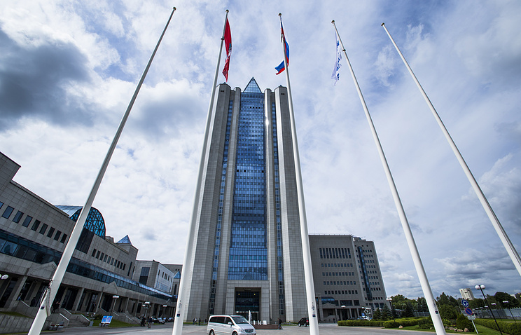 Headquarters of Russia's gas giant Gazprom in Moscow