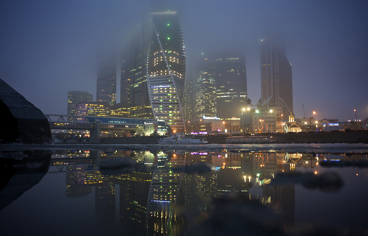 Moscow's City Center skyscrapers