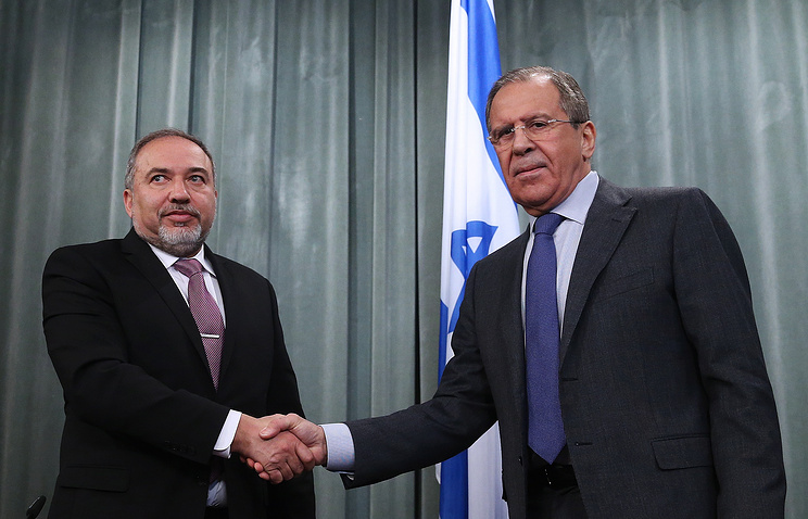 Avigdor Lieberman and Sergey Lavrov