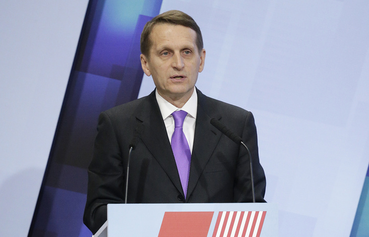 Russia's lower house speaker Sergey Naryshkin