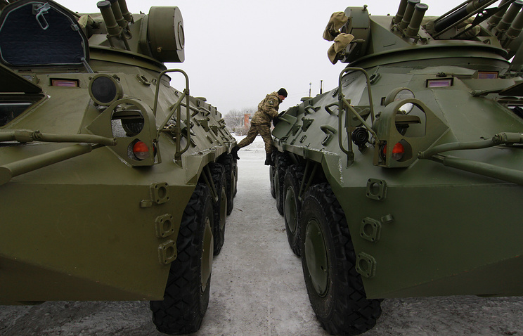 Ukraine's armoured vehicles