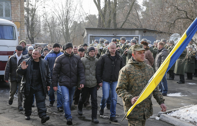 Ukrainian men called up for military service
