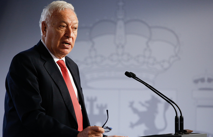 Spain's foreign minister Jose Manuel Garcia-Margallo