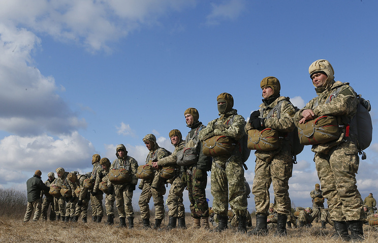 Military exercises of Ukrainian armed forces