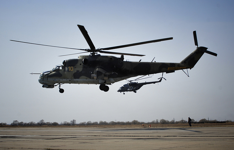 Mi-24 and Mi-8 helicopters