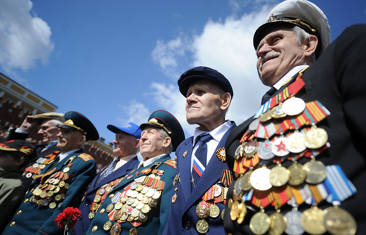 WWII veterans during a Victory Day military parade on Red Square