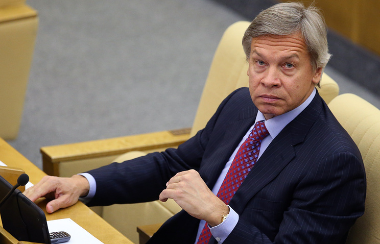 Russian State Duma's Committee on International Affairs chairman Alexey Pushkov