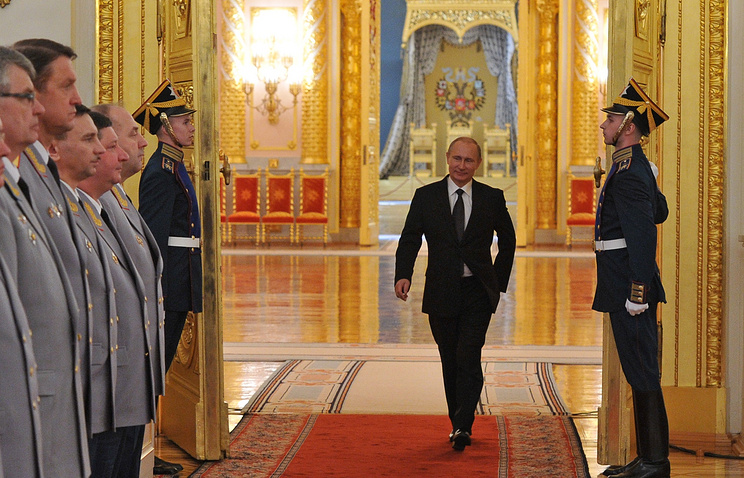 Russian President Vladimir Putin at the Grand Kremlin Palace