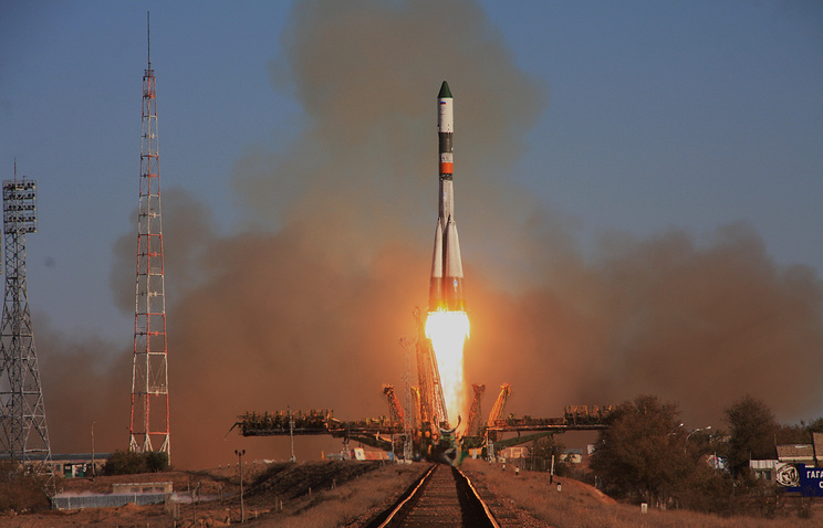 A Progress rocket launch from Baikonur (archive)