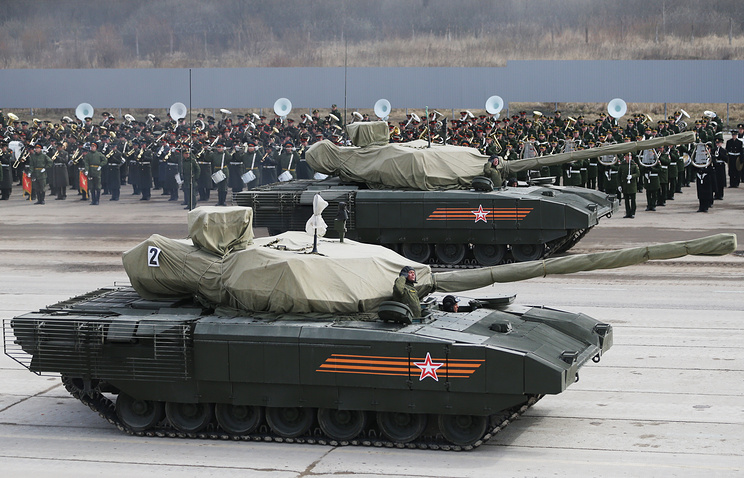Russia's new T-14 Armata tanks seen training for the Victory Day military parade
