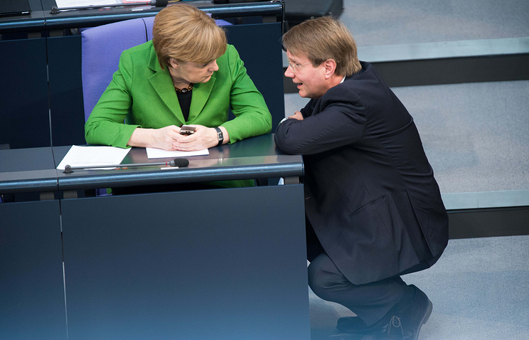 Ronald Pofalla and Angela Merkel