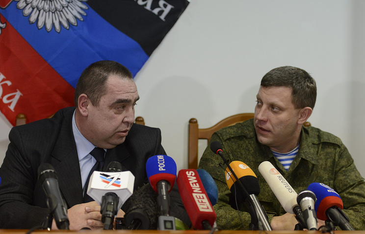 Alexander Zakharchenko (right) and Igor Plotnitsky
