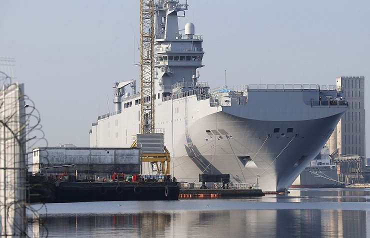 Mistral-type helicopter carrier